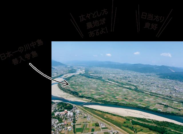 日本一の川中島 入善寺島 広々とした農地 日当たり良好